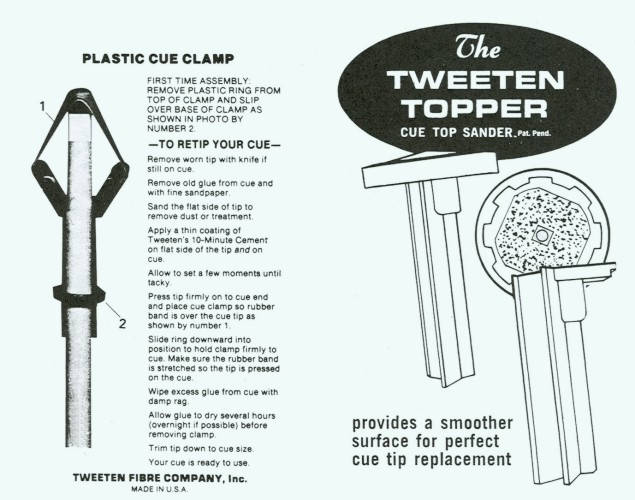 Tweeten Deluxe Billiard Repair Kit Pool Cue Re Tip Kit Ebay